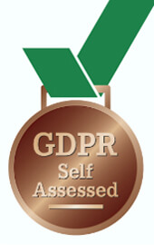 GDPR self assessed logo