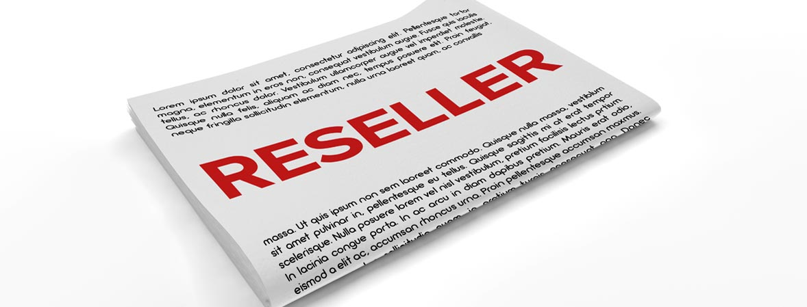 Reseller on Newspaper background