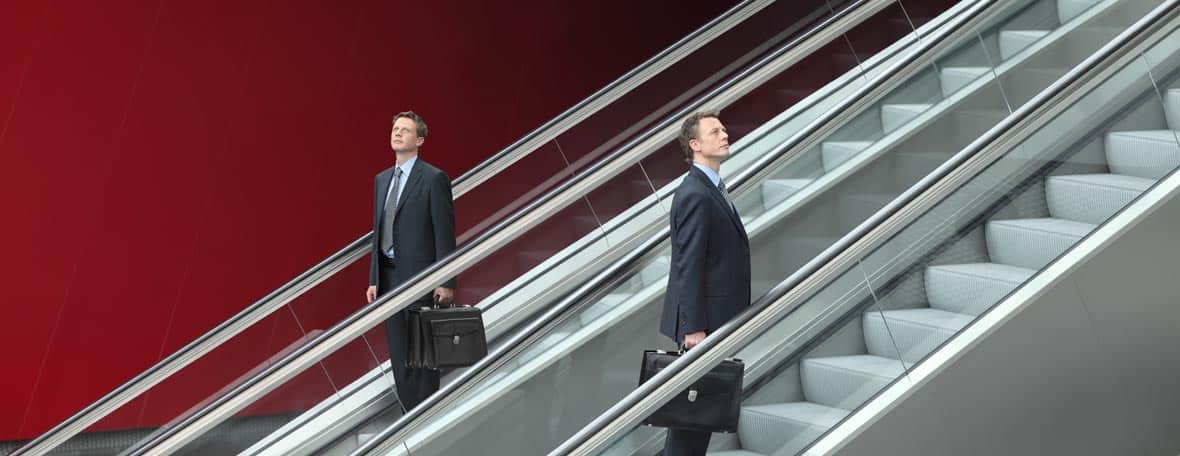 Walking an escalator in both direction